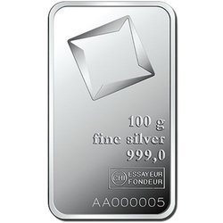 Sztaba srebra LBMA 100 g 24H