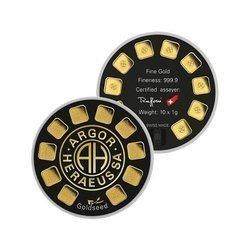 Sztaba złota ARGOR-HERAEUS Goldseed 10 x 1 g 24H